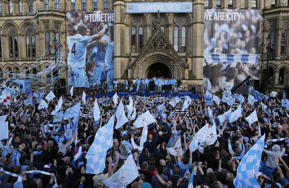 manchester city celebrate title win in style slideshow