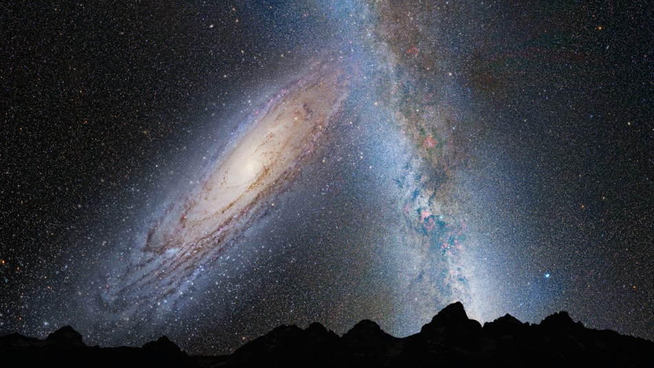 Andromeda galaxy collision nasa