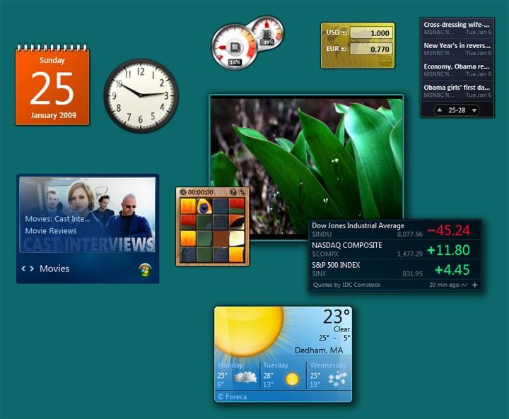 Vista Sidebar Forex Gadget software
