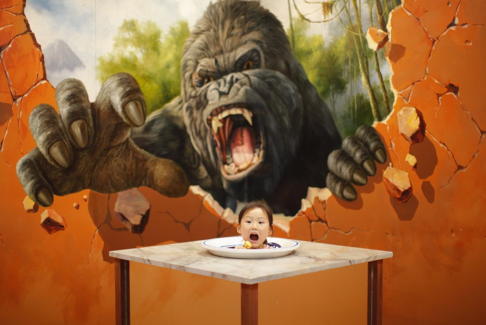 D Magic Art Exhibition China : D art exhibition in china delights visitors photos