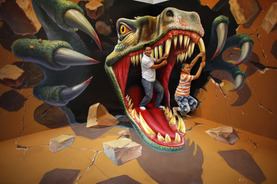3d art exhibition in china delights visitors photos for 3d mural art in india