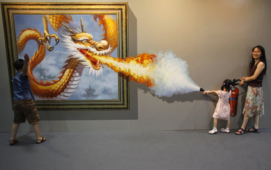 D Illusion Exhibition : D art exhibition in china delights visitors photos