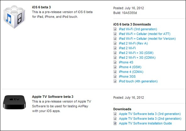 Apple Releases iOS 6 Beta 3 for Developers