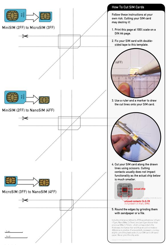 How to convert a micro sim to iphone 5 nano sim video - Couper une micro sim en nano sim ...