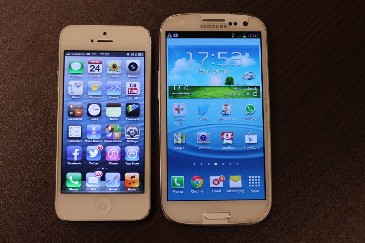 Samsung Galaxy S3 Or Iphone 6  iPhone 5 vs Samsung Galaxy S3 Iphone 6 Vs Galaxy S3 Size