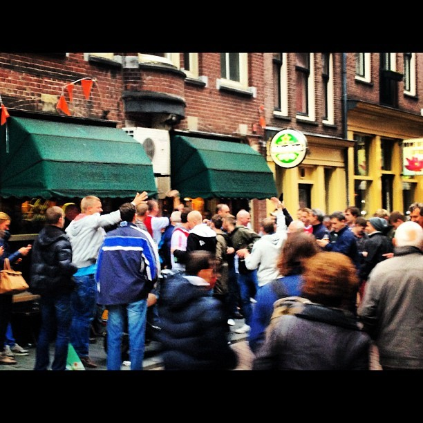 Amsterdam police said extra security forces had been deployed ahead of the match (Twitter)
