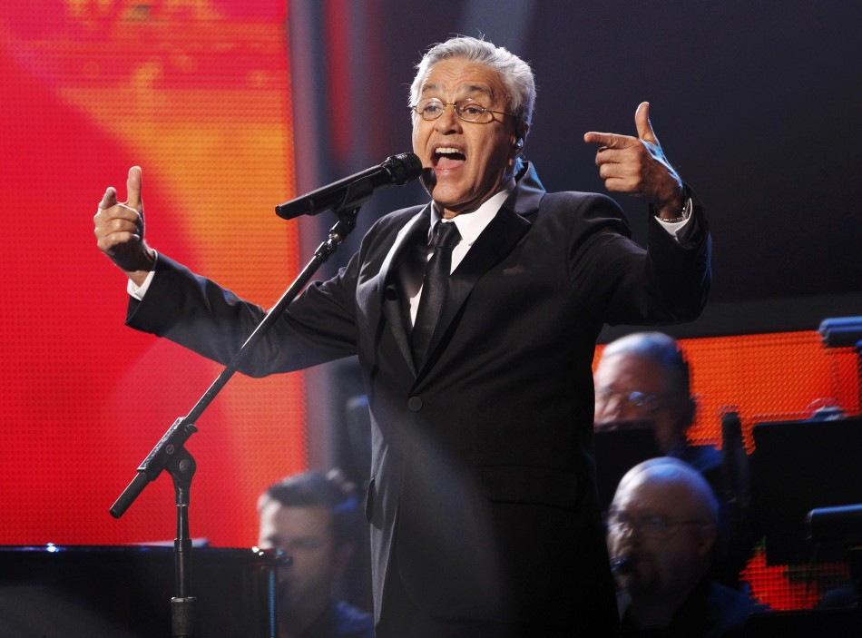 Person of the Year recipient Caetano Veloso performs during the 13th Latin Grammy Awards in Las Vegas