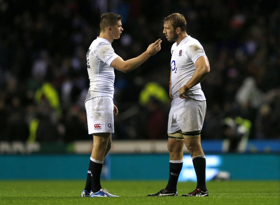 Owen Farrell and Chris Robshaw