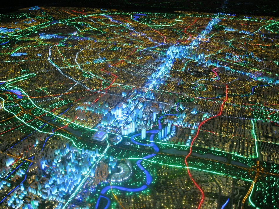 3D Map of Chengdu at the Planning Exhibition Hall (Photo: Lianna Brinded)