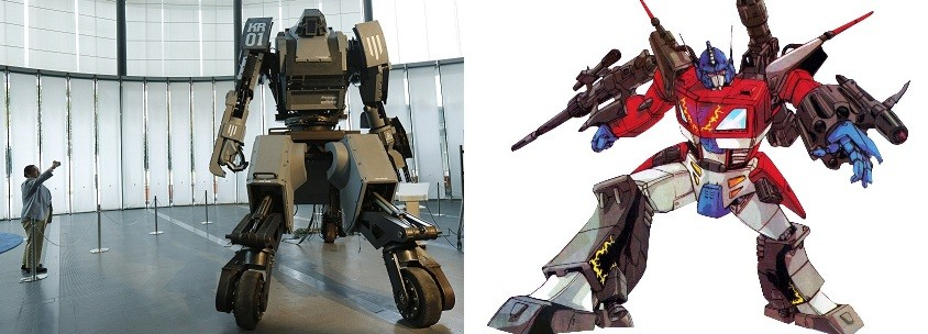 Kurata (l) and a fictional Transformer