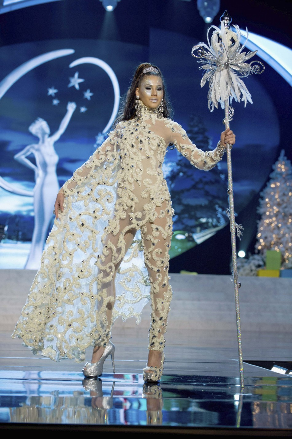 Miss Aruba Liza Helder on stage at the 2012 Miss Universe National Costume Show at PH Live in Las Vegas