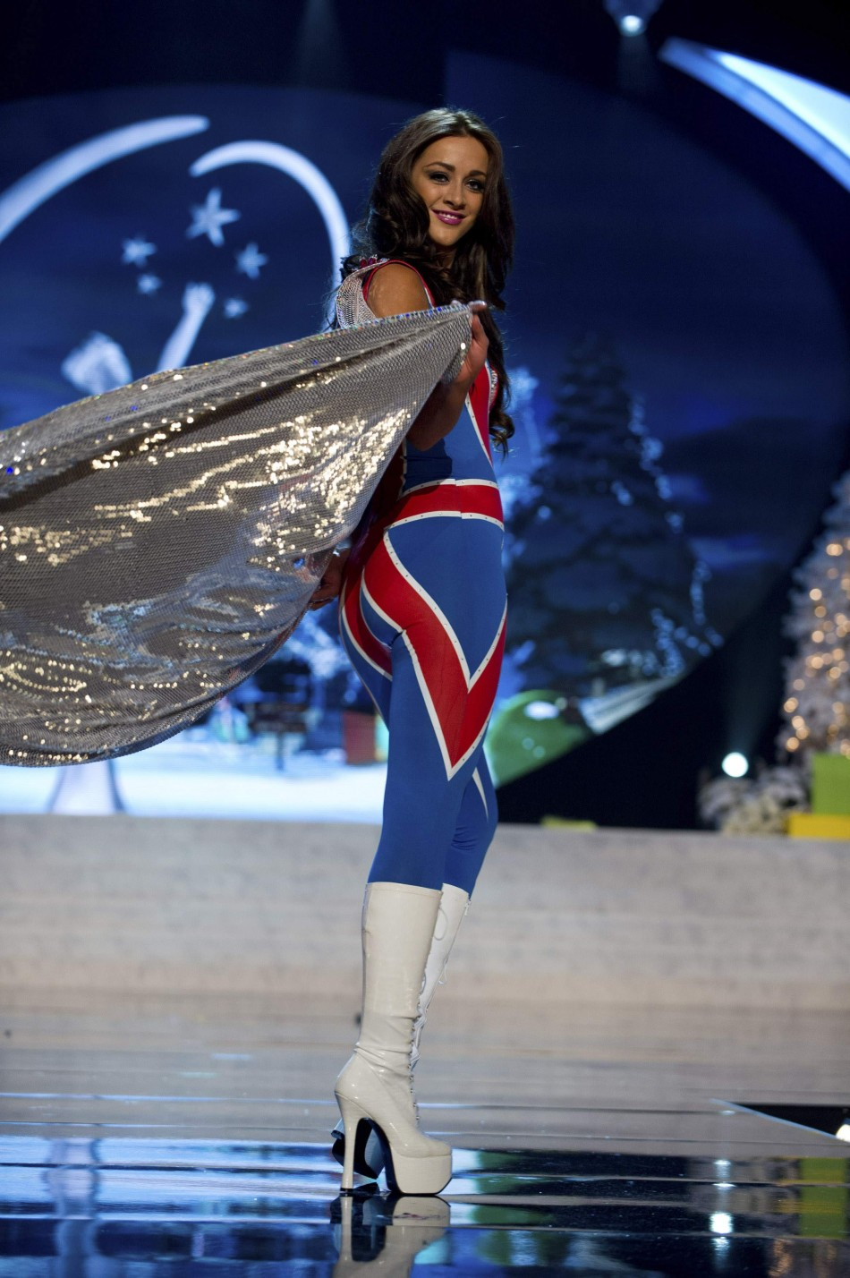 Miss Great Britain Hale on stage at the 2012 Miss Universe National Costume Show at PH Live in Las Vegas