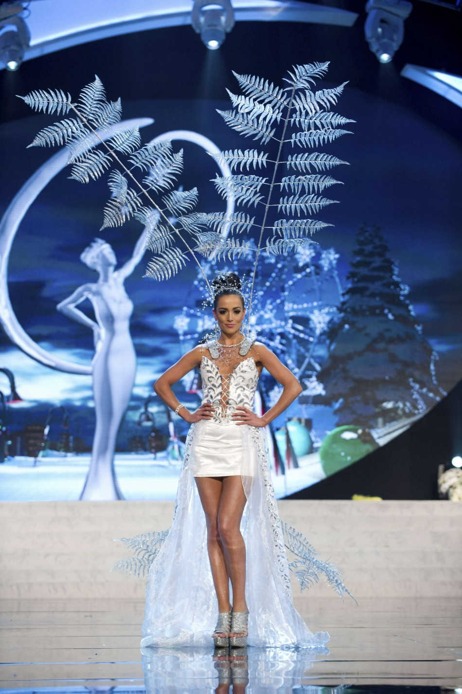 Miss New Zealand Talia Bennett on stage at the 2012 Miss Universe National Costume Show at PH Live in Las Vegas