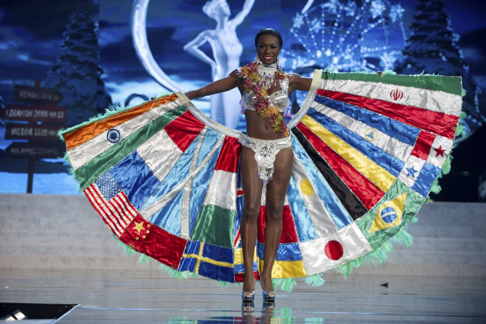 Miss Canada Adwoa Yamoah on stage at the 2012 Miss Universe National Costume Show at PH Live in Las Vegas