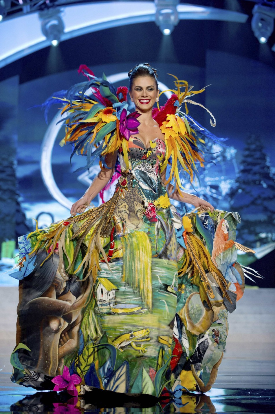 Miss Brazil Gabriela Markus on stage at the 2012 Miss Universe National Costume Show at PH Live in Las Vegas