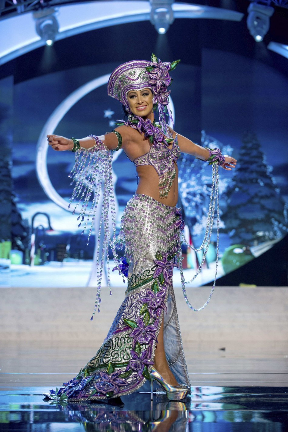 Miss Costa Rica Nazareth Cascante on stage at the 2012 Miss Universe National Costume Show at PH Live in Las Vegas