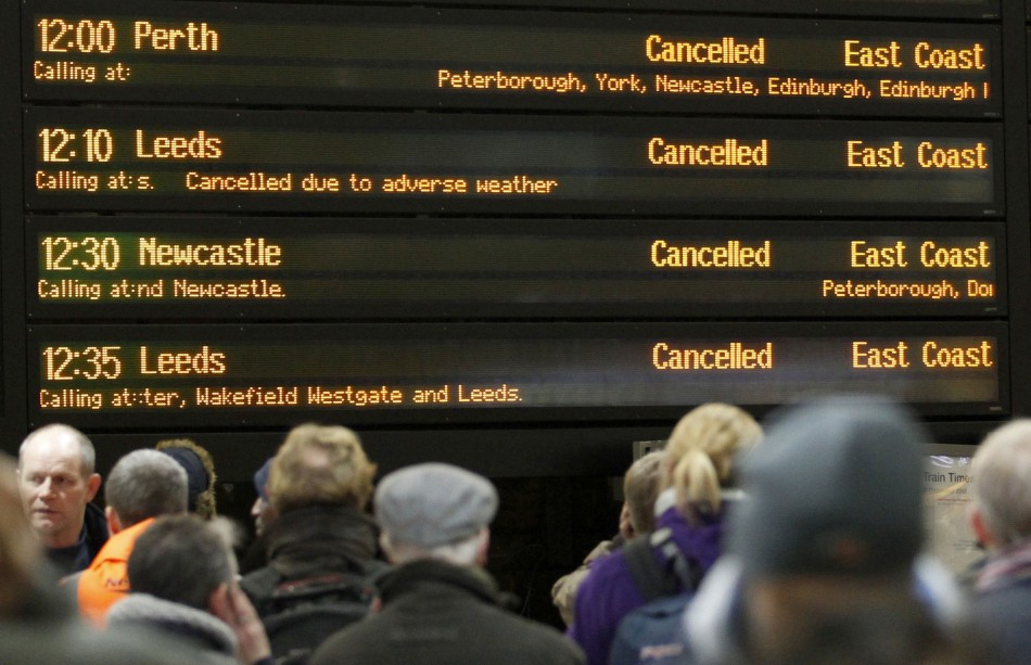 Rain and Flooding Further Distrust Busiest Travelling day of the Year  (Reuters)