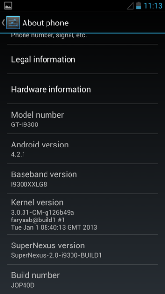 GT-I9300 Gets Nexus 4 - Styled Android 4.2.1 SuperNexus 2.0 ROM [How