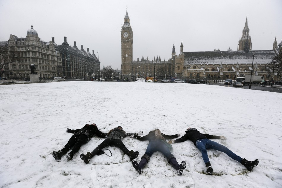 Snow and freezing temperatures blast the UK