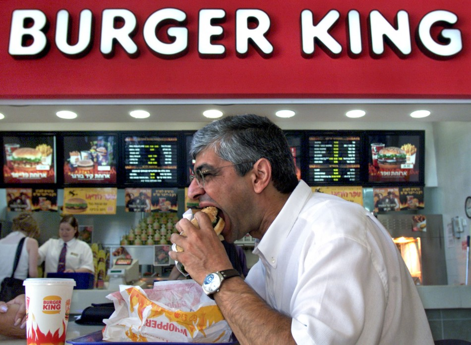 Tucking in: But Burger some King favourites are off the menu