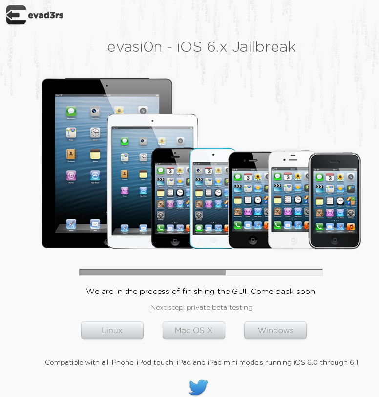 ios 6 x untethered jailbreak evasi0n to support all ios 6 compatible devices website hints. Black Bedroom Furniture Sets. Home Design Ideas