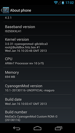 Galaxy Nexus I9250 Gets Android 4.2.1 Jelly Bean with MoDaCo CyanogenMod 10.1 ROM [How to Install]