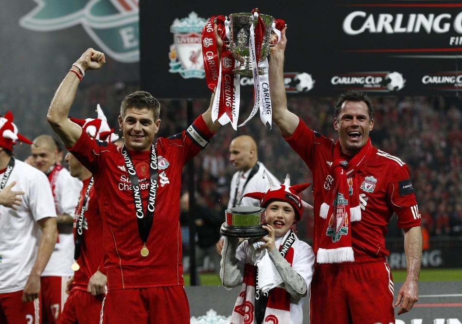 Jamie Carragher (R) and Steven Gerrard