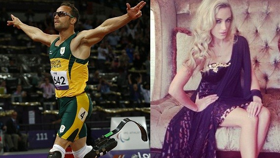 Oscar Pistorius and his girlfriend Reeva Steenkamp