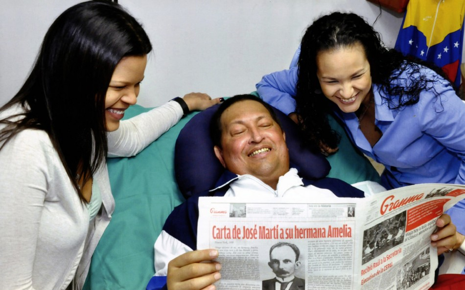 Chavez with his daughters