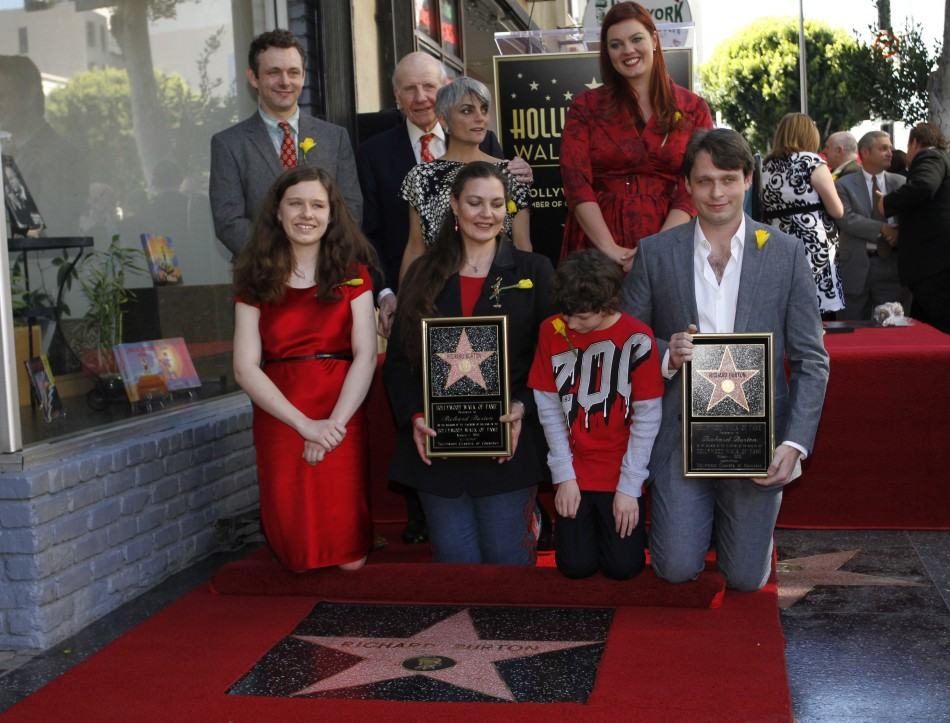 richard burton honoured with star on hollywood walk of