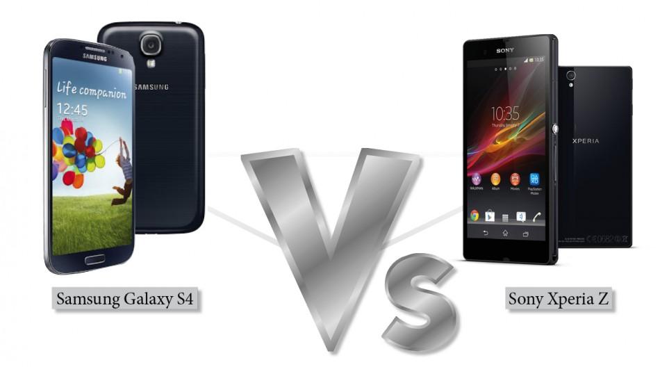 Xperia Z Vs Galaxy S4 Galaxy S4 vs Sony Xperia Z