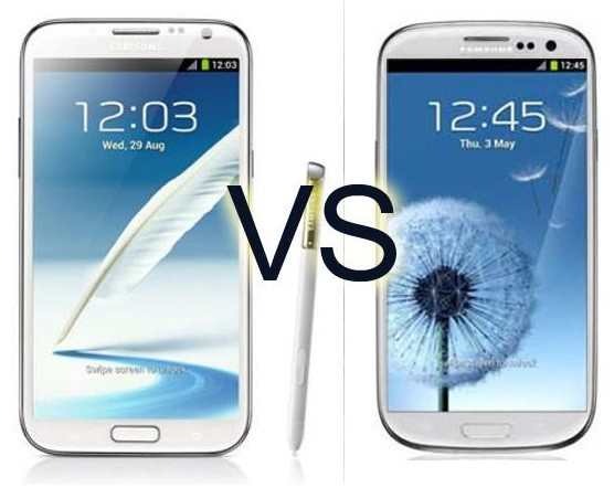 Samsung Galaxy S4 Vs Galaxy Note 2