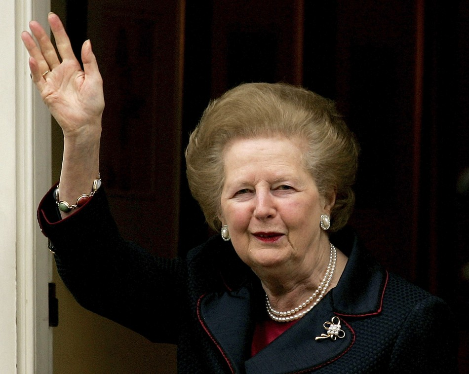 Margaret Thatcher does not have a simian line.