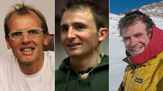 Simone Moro, Ueli Steck and Jonathan Griffith were attempting to climb Mount Everest when the fight occurred (No2)