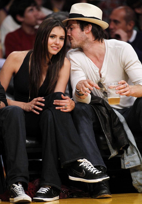 Somerhalder with Vampire  Diaries Splits Nina Co-star Ian