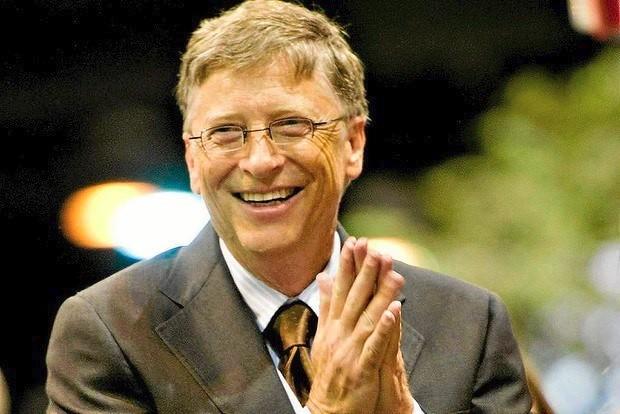 Foto van de 178 cm lange Bill Gates, zoon van vader William H. Gates ...: taddlr.nl/celebrity/bill-gates