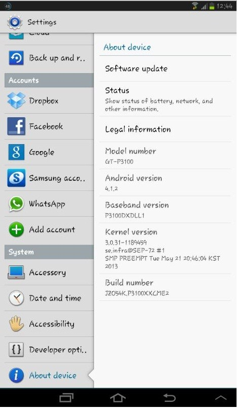 Samsung Galaxy gt P3100 Galaxy Tab 2 7.0 Gt-p3100
