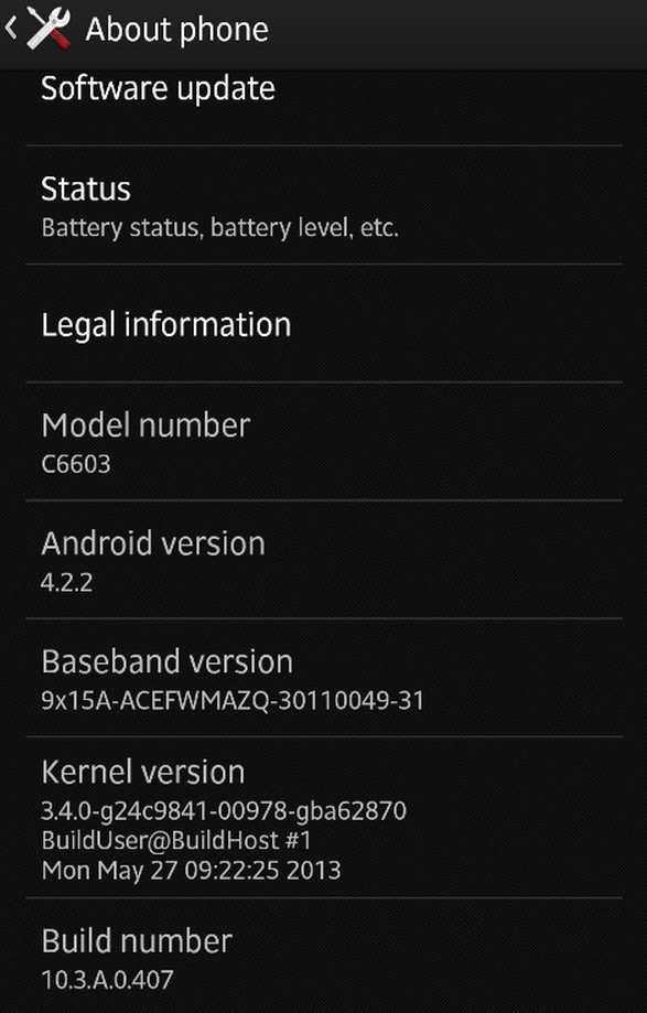 Jelly Bean (10.3.A.0.407) Update Leaked for Sony Xperia Z [How to