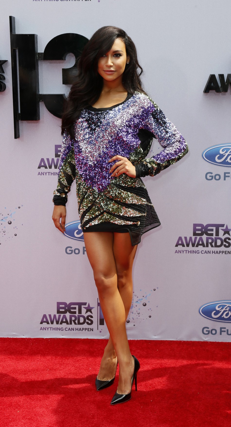 Actress Naya Rivera arrives at the 2013 BET Awards in Los Angeles, California June 30, 2013.