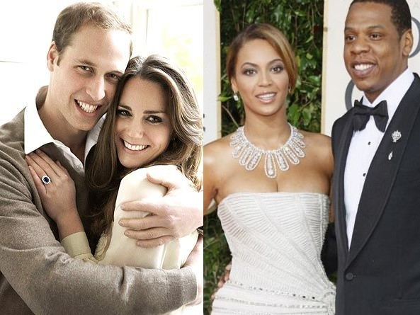 The royals and Jay-Z and Beyonce