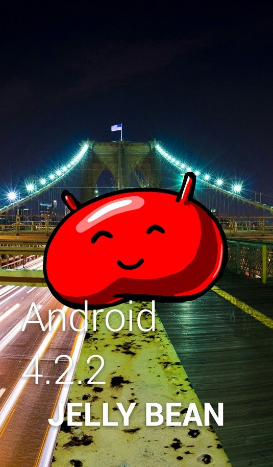 Screenshot of Android 4.2.2 Jelly Bean update running on Galaxy S4.
