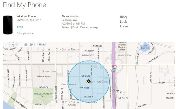 Find My Phone for Windows Phone 8