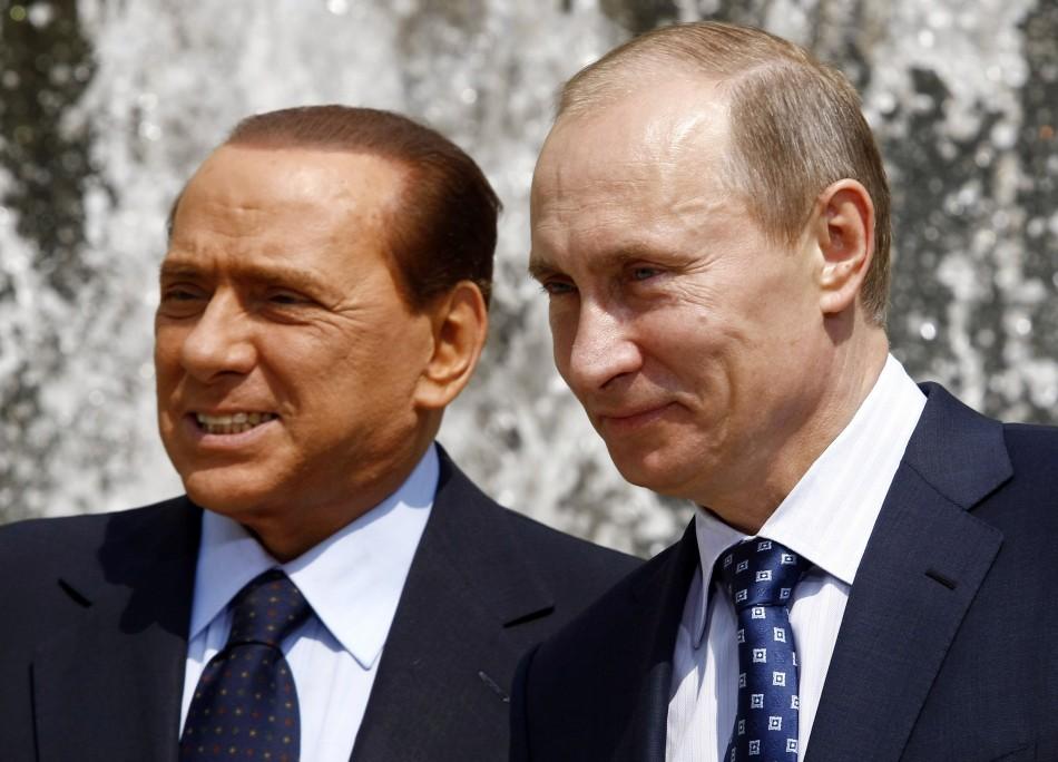 Silvio Berlusconi and Vladimir Putin
