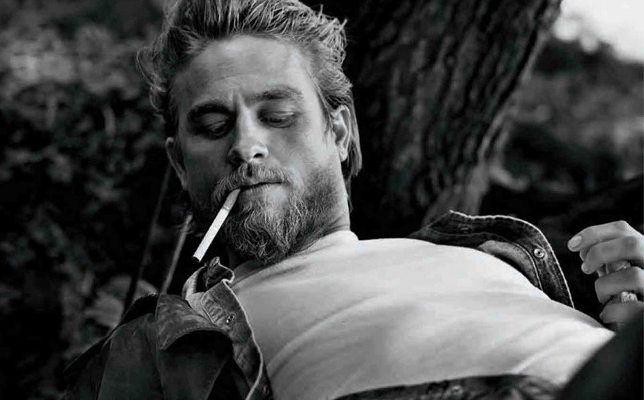 Charlie hunnam reveals he is not as tough as jax teller of sons of