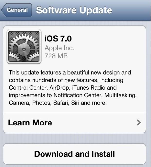 California Man Sues Apple over Unwanted iOS 7 Update