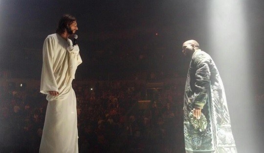 Kanye West Provokes Christian Backlash After Bringing ... Kanye West Yeezus Concert