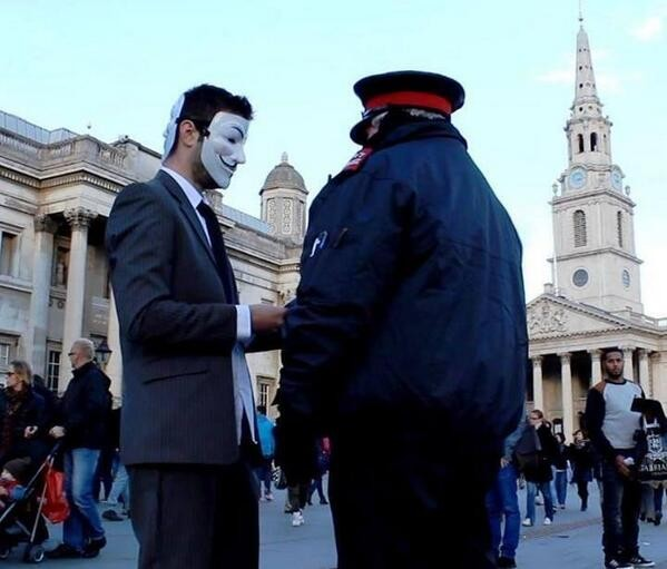 Anonymous Million Mask March - London