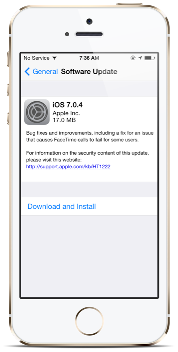 How to Install iOS 7.0.4 FaceTime Bug-Fix Update on iPhone, iPad or iPod Touch [GUIDE]