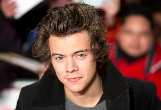 "Singer Harry Styles from the band One Direction attends the world premiere of the film ""The Class of 92"" in London"