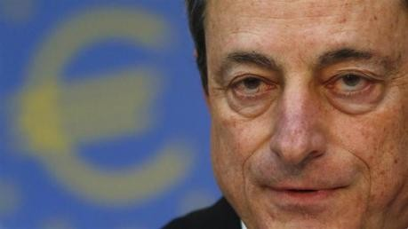 Mario Draghi, President of the European Central Bank (ECB) answers reporter's questions during his monthly news conference at the ECB headquarters in Frankfurt